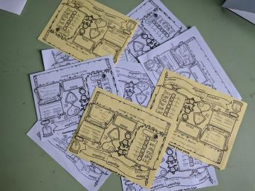 Mini character sheets of the 10 dead characters